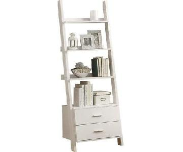 Mercury Row Ladder Bookcase with 2 Drawers