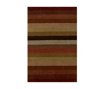 Crate & Barrel Merlot Stripe Rug