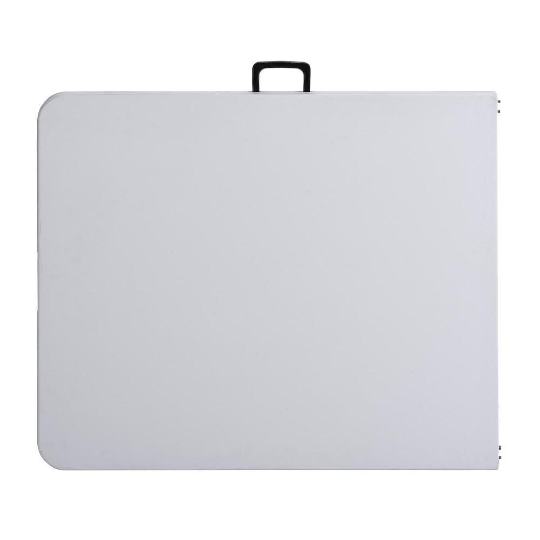 Cosco White Plastic Portable Folding Banquet Table-0