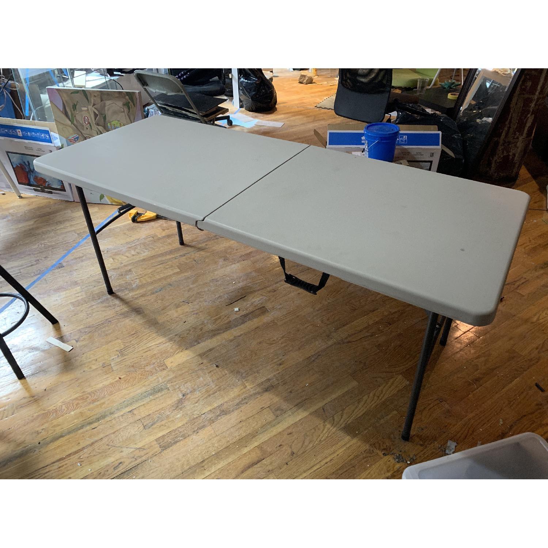 Cosco White Plastic Portable Folding Banquet Table-4