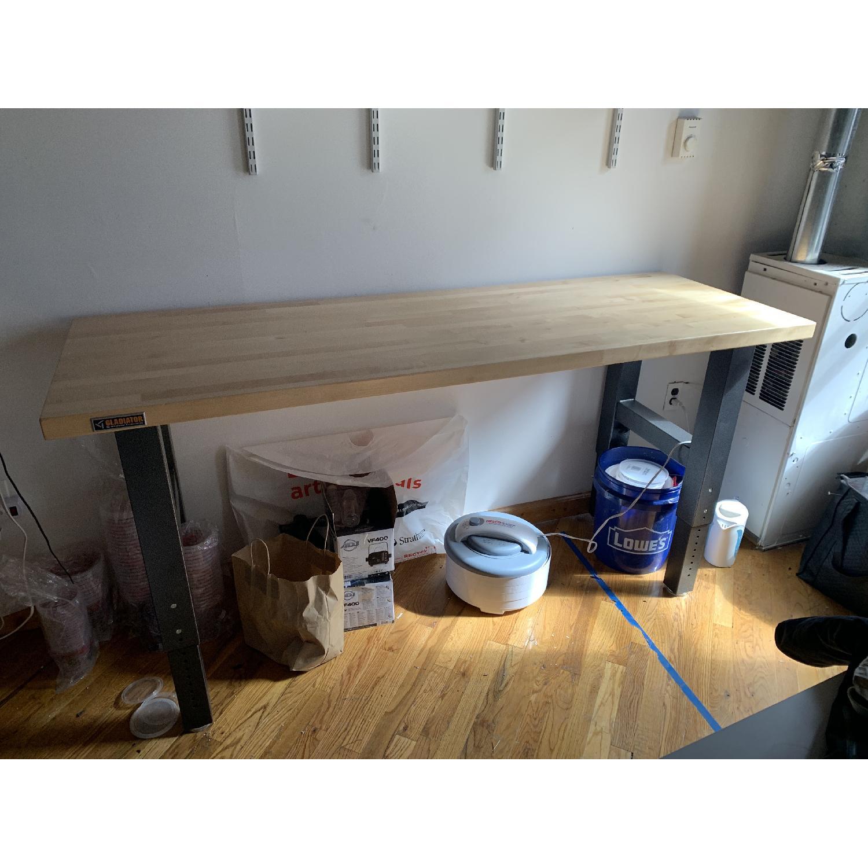 Gladiator Hardwood Top Adjustable Height Workbench-1