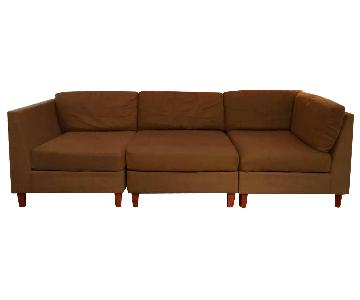 West Elm 3-Piece Modular Sofa in Jack Mocha