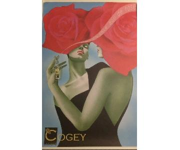 Signed Limited Edition Cogey Poster by Philippe Sommer