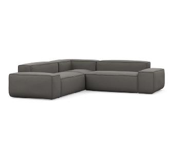 Interior Define Gray Corner Sectional Sofa