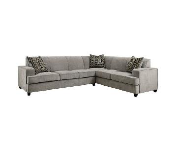 Modern Grey Sleeper Sectional Sofa