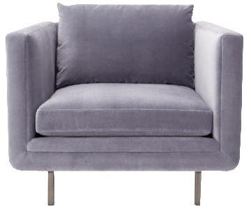 ABC Carpet and Home Light Violet Velvet Chair