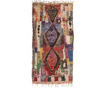 Vintage Mid-Century Moroccan Berber Multi-Color Wool Rug
