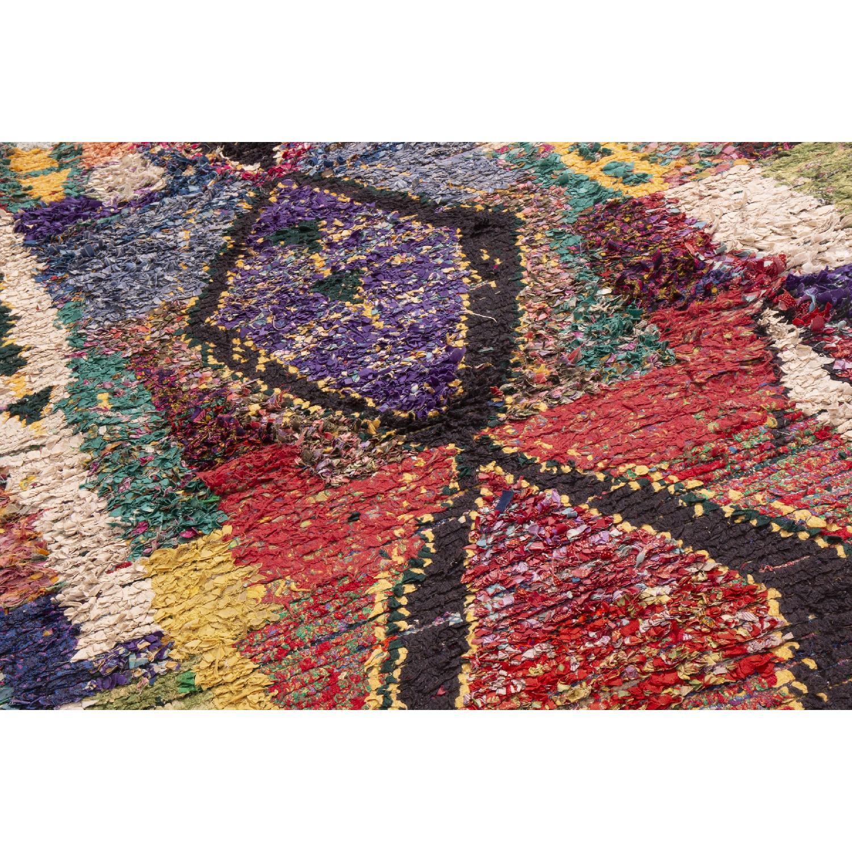 Vintage Mid-Century Moroccan Berber Multi-Color Wool Rug-1