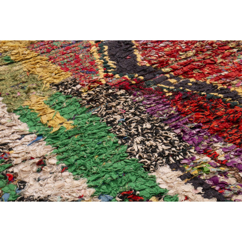 Vintage Mid-Century Moroccan Berber Multi-Color Wool Rug-2