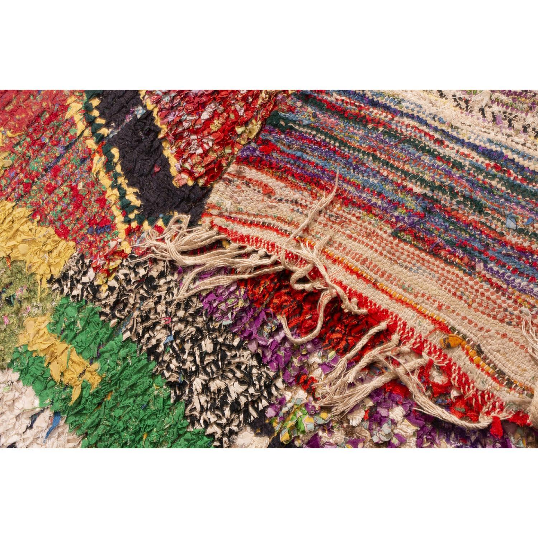 Vintage Mid-Century Moroccan Berber Multi-Color Wool Rug-3