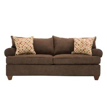 Raymour & Flanigan Brown/Mocha Sofa