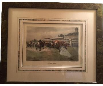 George Wright Signed Prints - Horse Racing
