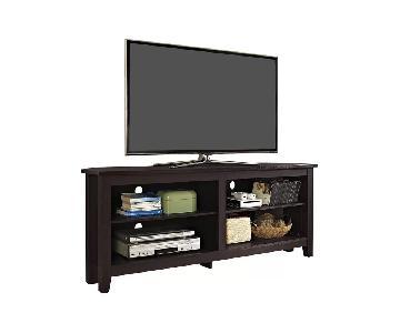 Beachcrest Home Dark Brown TV Stand