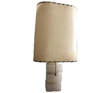 Mid Century Alabaster Base Lamps