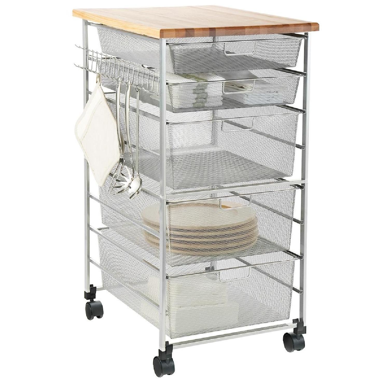 Container Store Elfa Platinum Kitchen Cart