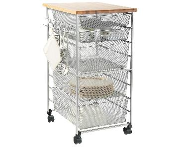 Container Store Elfa Platinum Kitchen Cart
