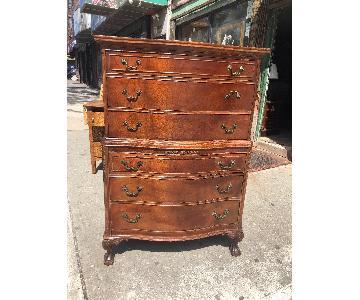 Antique 1930s Solid Mahogany Dresser w/ Original Handles
