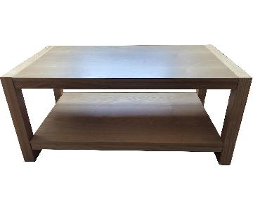 Natural Light Wood Coffee Table