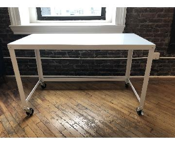 Lupine Industrial Style white Metal Office Desk