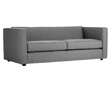 CB2 Hill-Side Chambray Club Sofa