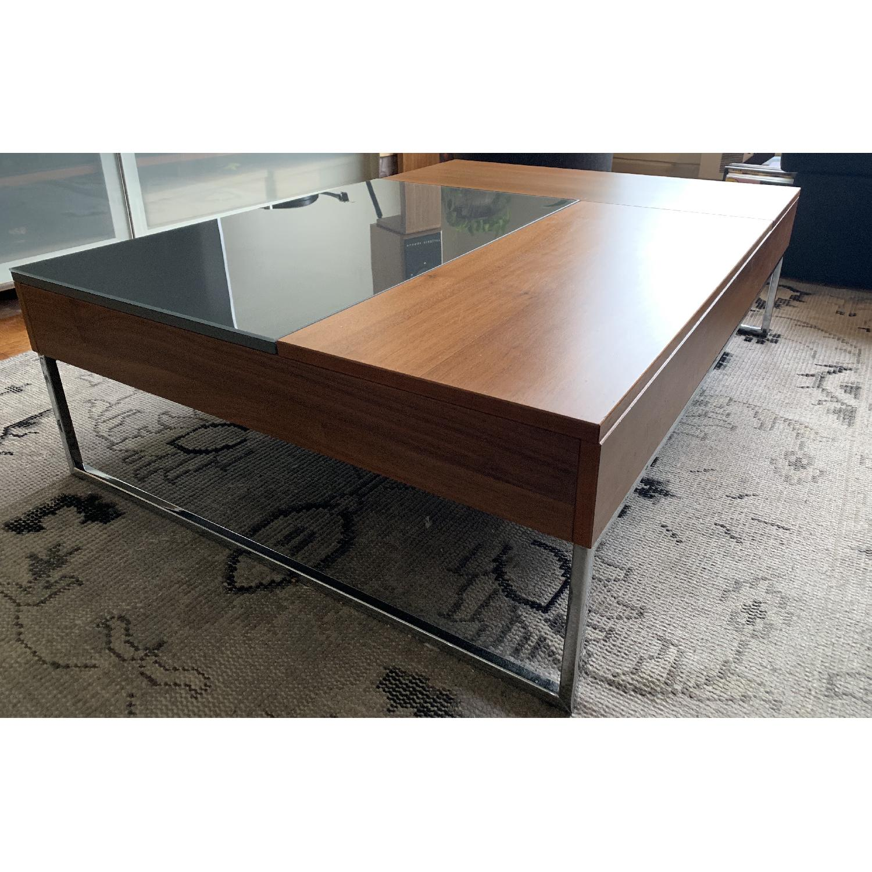Boconcept Chiva Modern Pop Up Hidden Storage Coffee Table Aptdeco