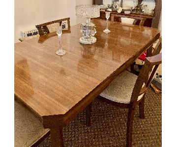 Vintage Mid Century Dining Table w/ 6 Chairs