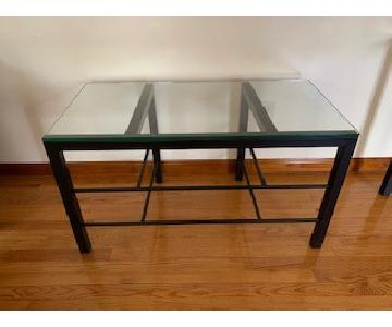 Crate & Barrel Black Metal & Glass Tables