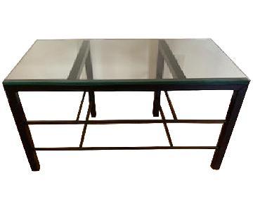 Crate & Barrel Black Metal & Glass Tables