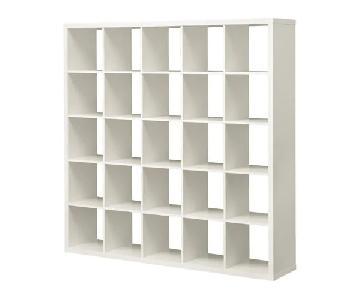 Ikea Kallax White Wooden Shelf Unit