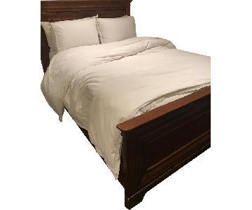 Dark Wooden Full Bed Frame