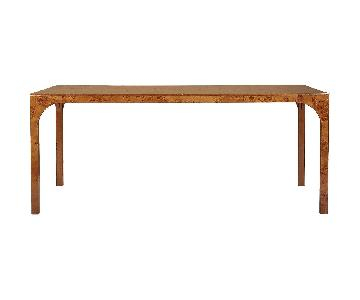 CB2 Aqua Virgo Burl Dining Table
