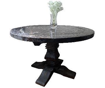 Restoration Hardware Salvaged Wood Distressed Trestle Table