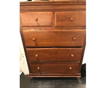 Dark Wooden 5-Drawer Dresser