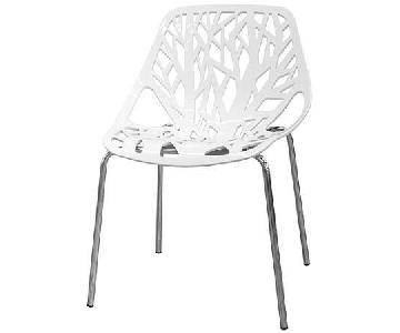 Baxton Studio Sapling White Accent Chairs