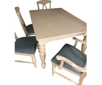 Broyhill Off-White/White Dining Table w/ 6 Chairs