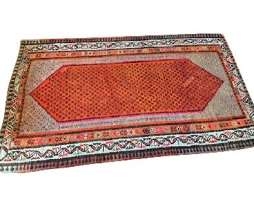 Vintage Hand Knotted Wool Kilim Carpet