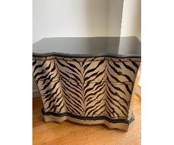 Ashley Zebra Print 3-Drawer Dresser w/ Marble Top