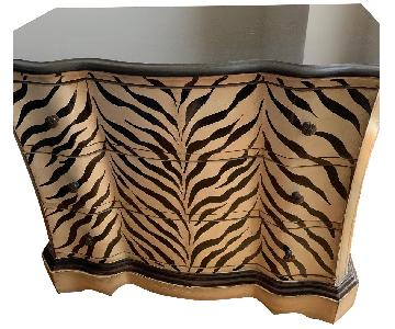 Ashley Zebra Print 3-Drawer Dresser w/ Marble Top