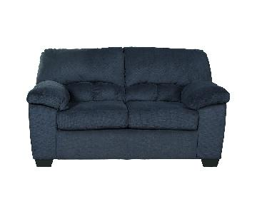 Ashley Dailey Midnight Blue Loveseat