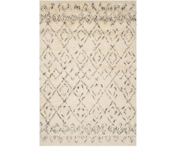 Safavieh Shag Wool Rug & Rug Pad