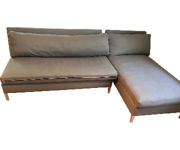 CB2 Limited Collection 2 Piece Sectional Sofa
