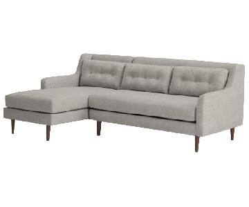 West Elm Crosby 2-Piece Sectional Sofa