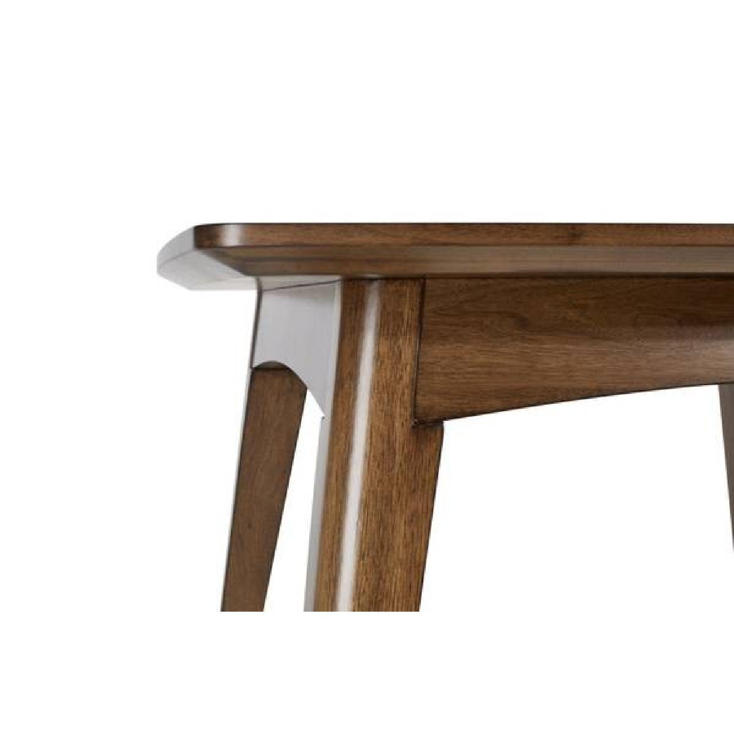 Mid-Century Modern Expandable Solid Wood Dining Table-0