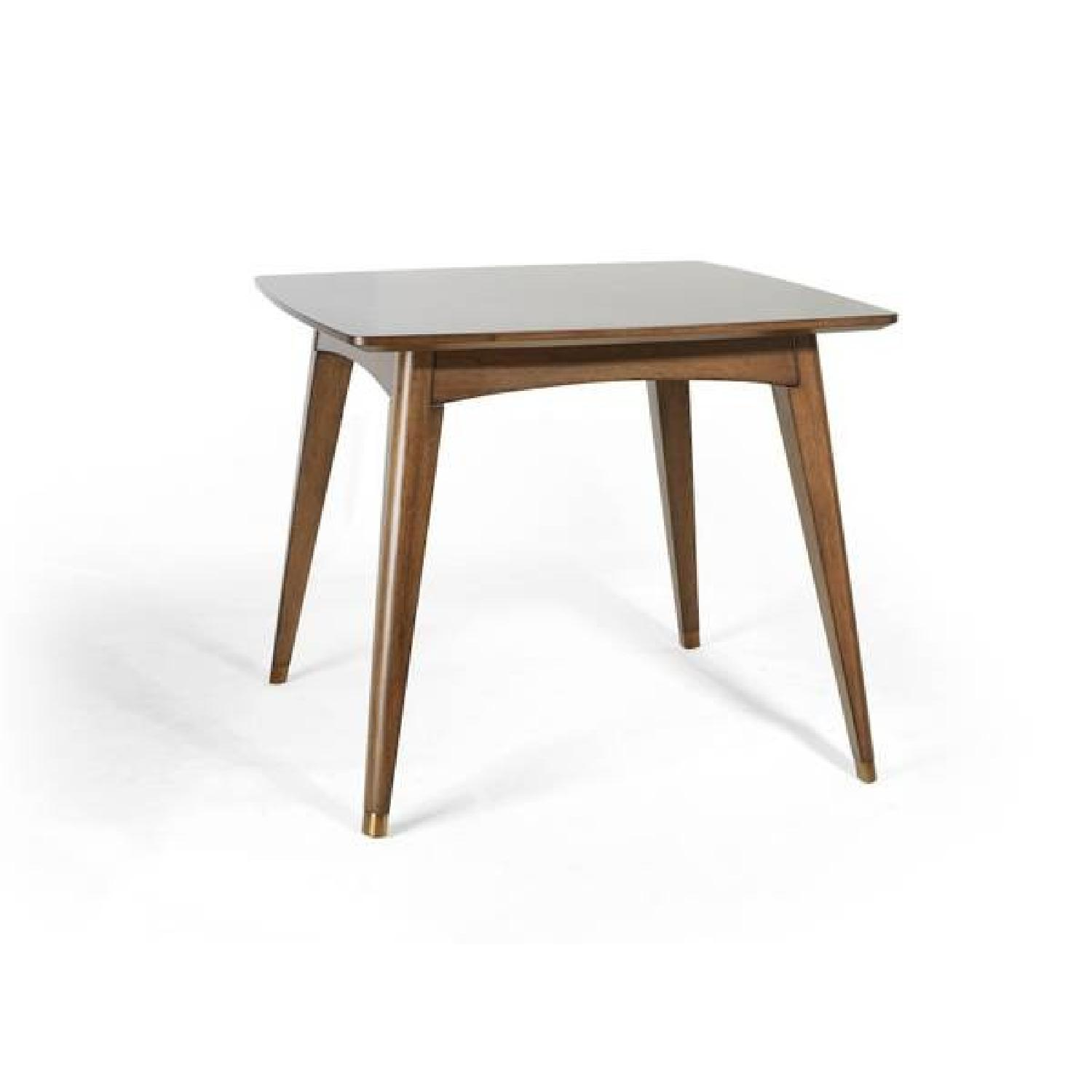 Mid-Century Modern Expandable Solid Wood Dining Table-1