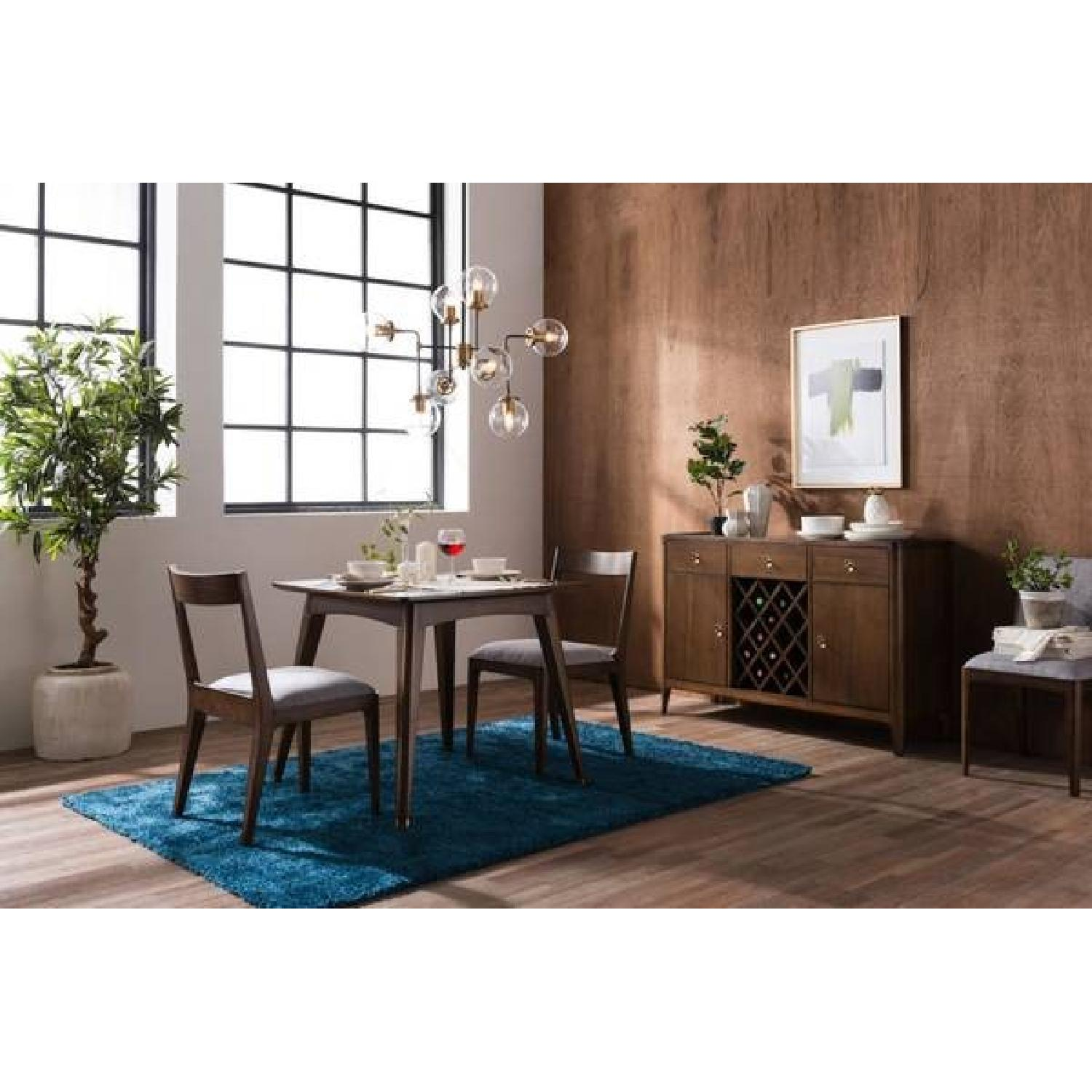 Mid-Century Modern Expandable Solid Wood Dining Table-2