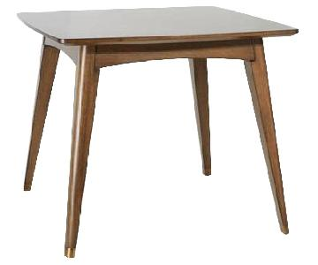 Mid-Century Modern Expandable Solid Wood Dining Table