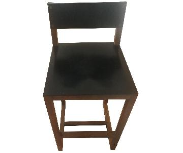 BDDW Wood & Leather Stool