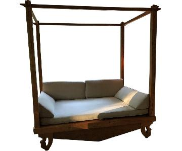 Teak 4 Post Lounge Sofa Bed/Daybed