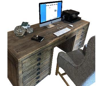 Restoration Hardware Antiqued Pine Desk