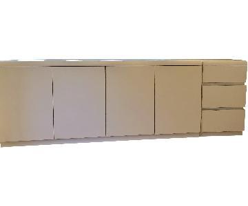Contemporary White Laminate Modular Unit